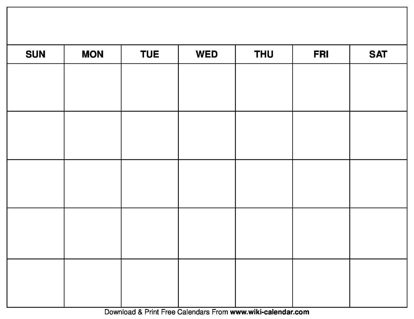 Printable Blank Calendar Templates | Calender Template