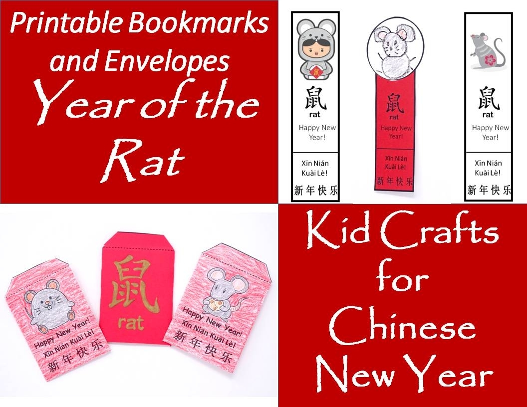 Printable Envelopes And Bookmarks For Year Of The Rat: Kids