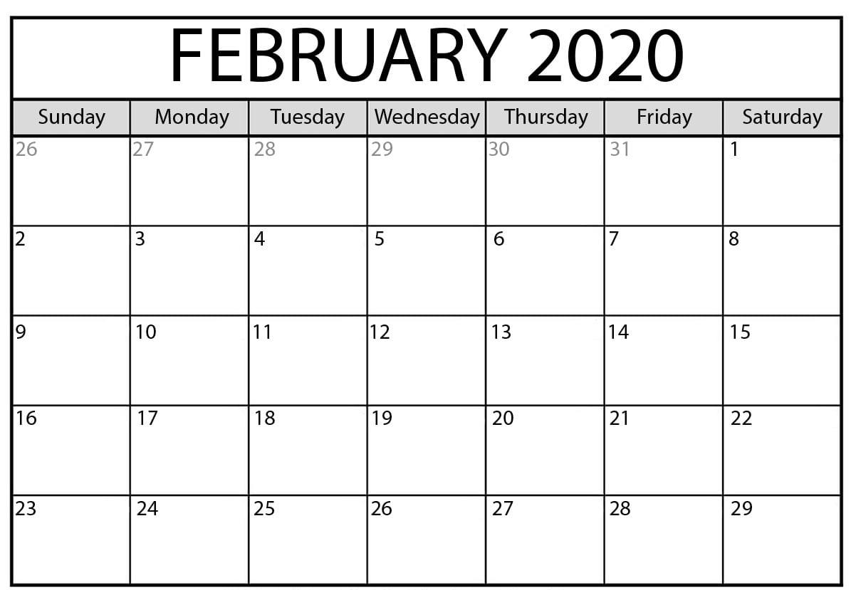 Printable Fillable Calendar 2020 - Mance