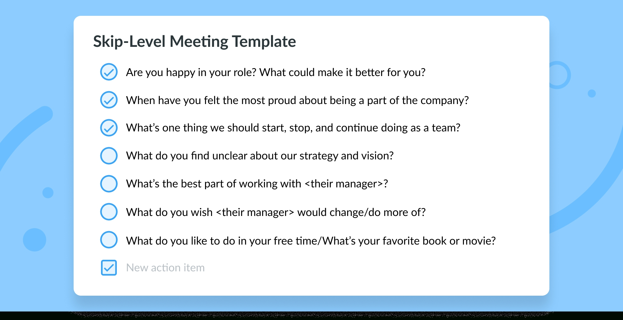 Skip-Level Meetings: Top 7 Questions & Best Practices [Free