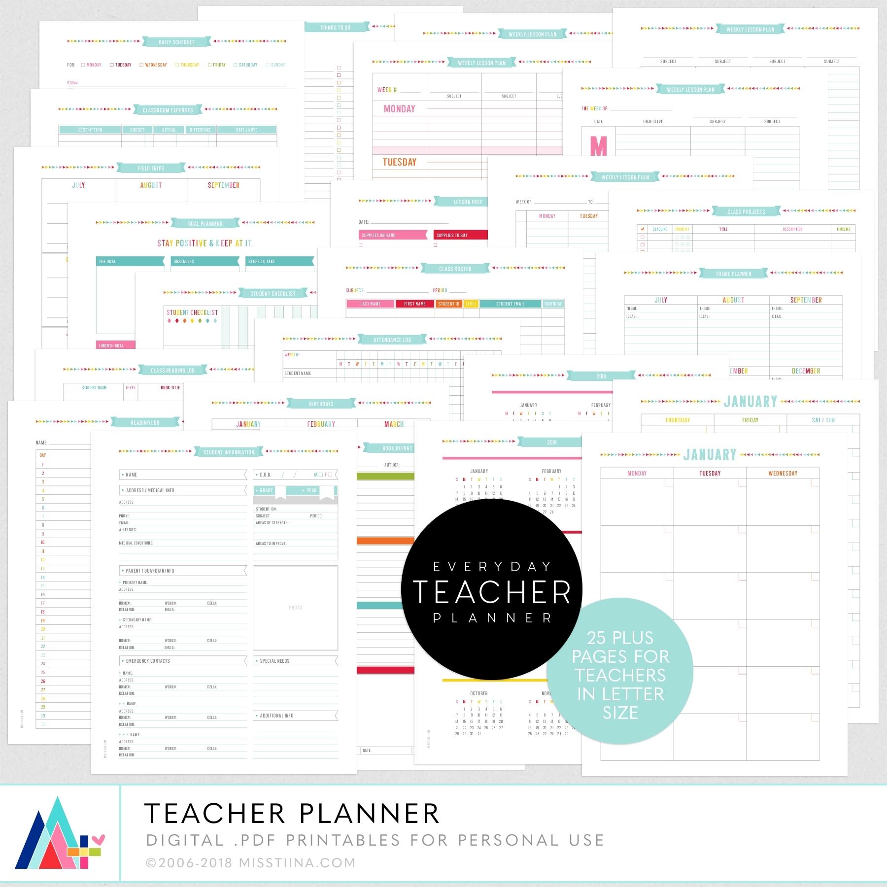 Teacher Planner By Miss Tiina | Misstiina