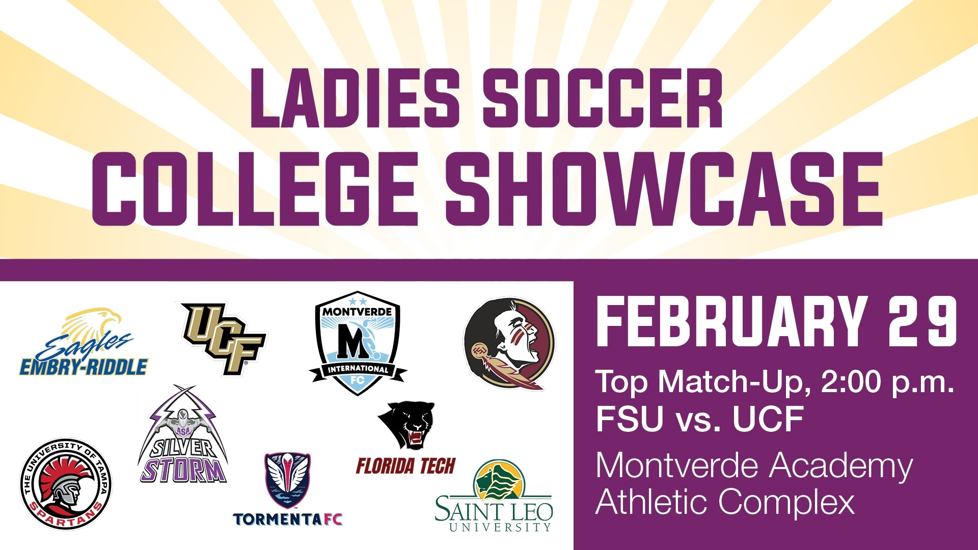 The 2020 Ladies Soccer College Showcase - Montverde Academy