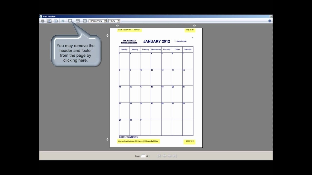 The No-Frills Printable Calendar - How To Print Our Calendars In Portrait  And Landscape Mode