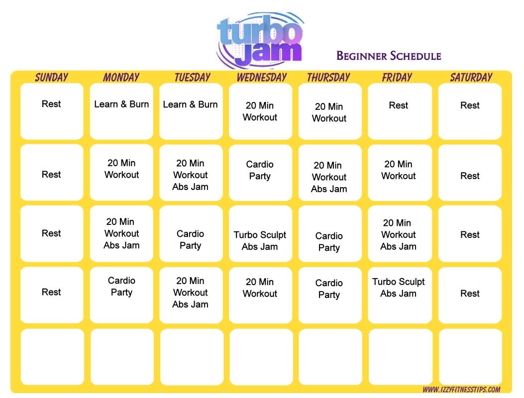 Turbo Jam Beginner Schedule (With Images)   Turbo Jam