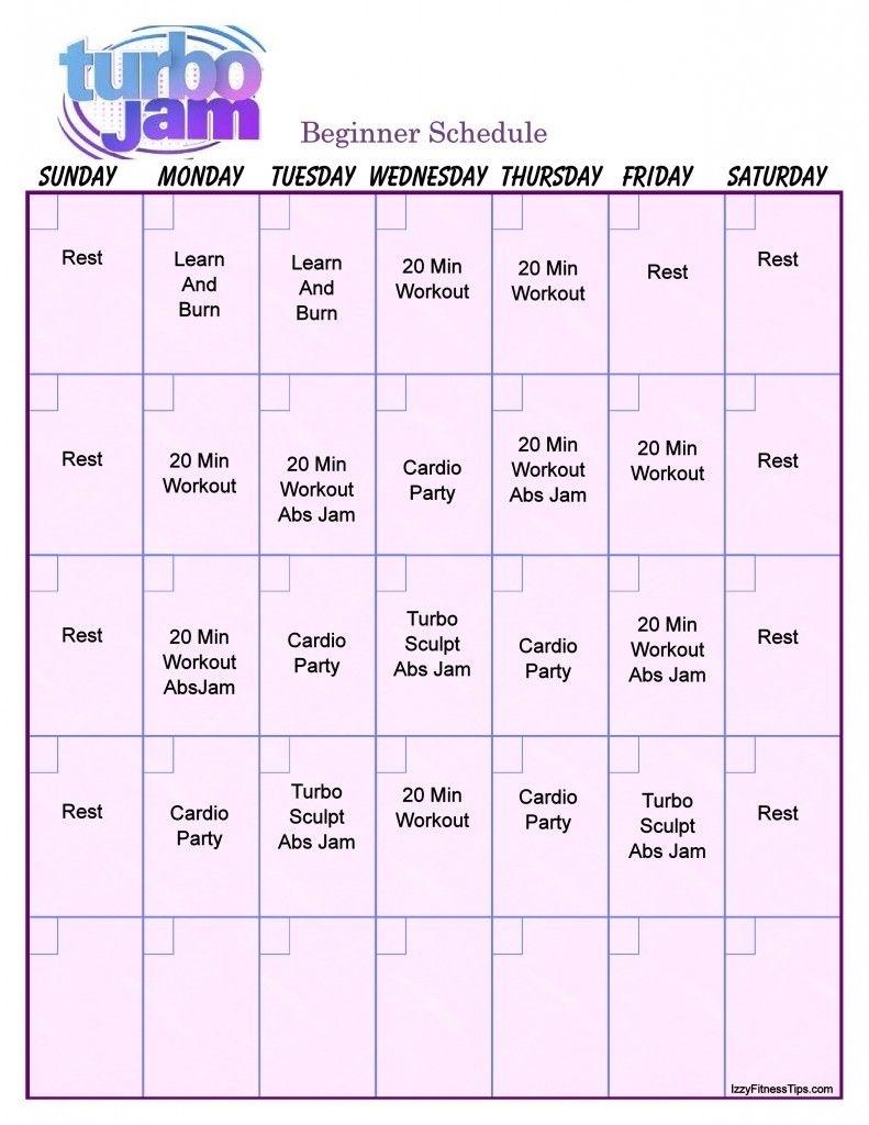 Turbo Jam Workout Calendar   Turbo Jam, Workout Calendar