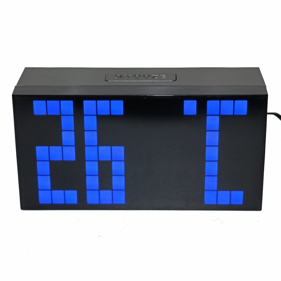 Us $29.45 5% Off|Desktop Led Digital Alarm Clock Countdown Timer With  Calendar Temperature Large Numbers Easy Read Battery Back Up Wall  Mountable|Led