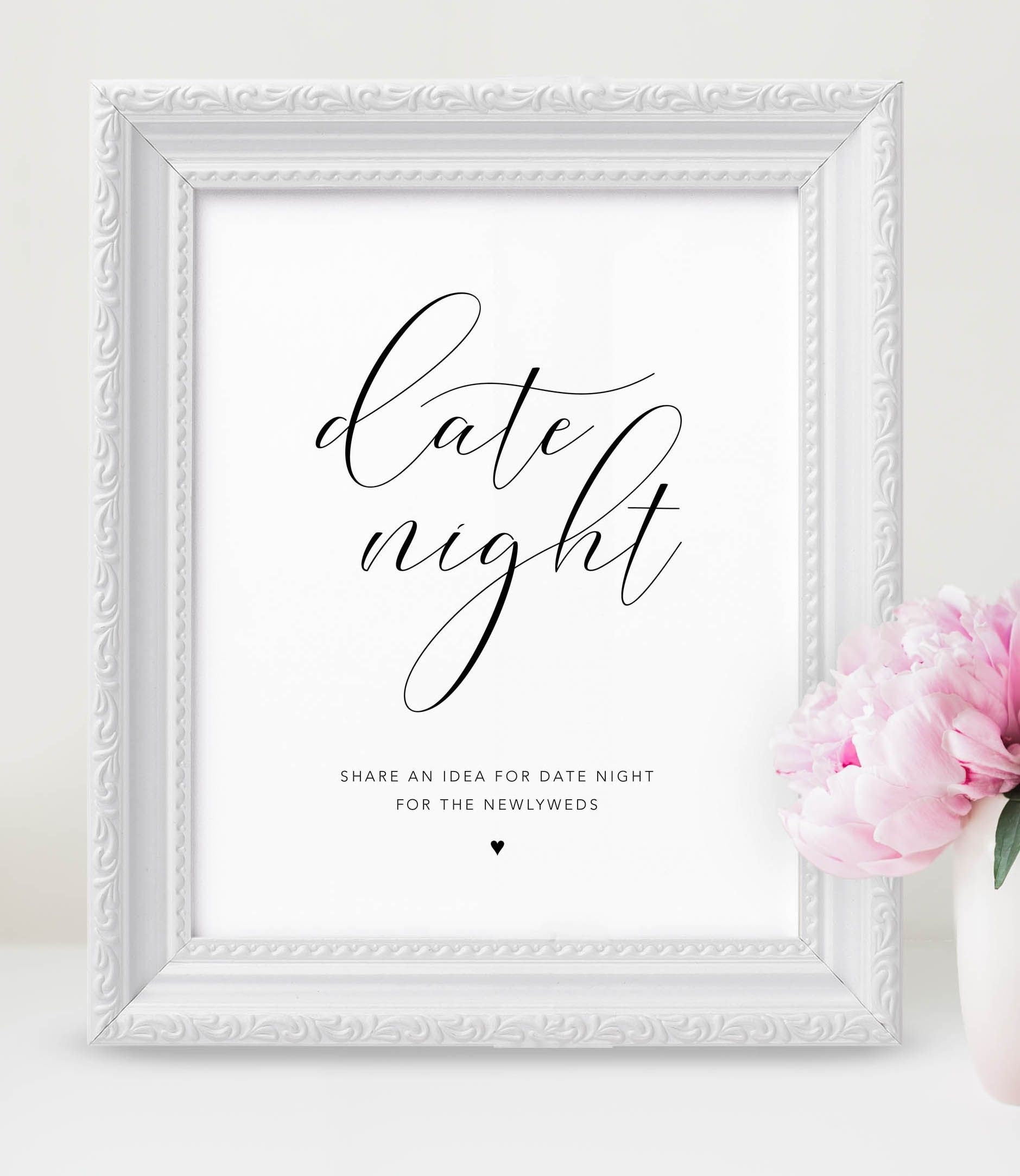 Use This Cute Date Night Jar Sign At Your Wedding! Wedding