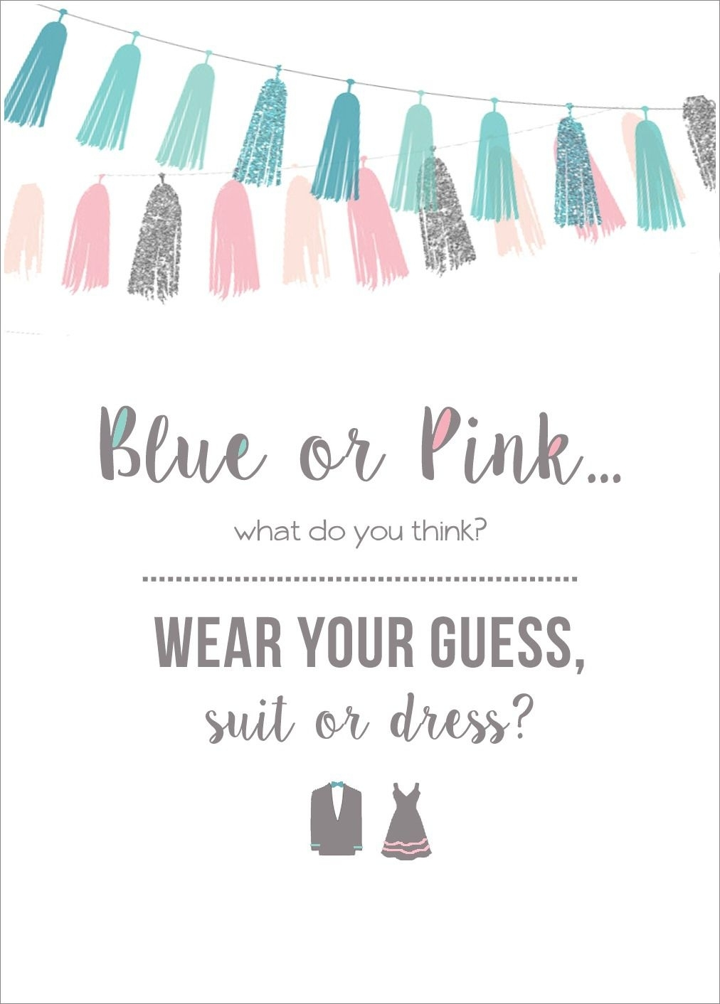 Wear Your Guess Printable (With Images) | Gender Reveal Party