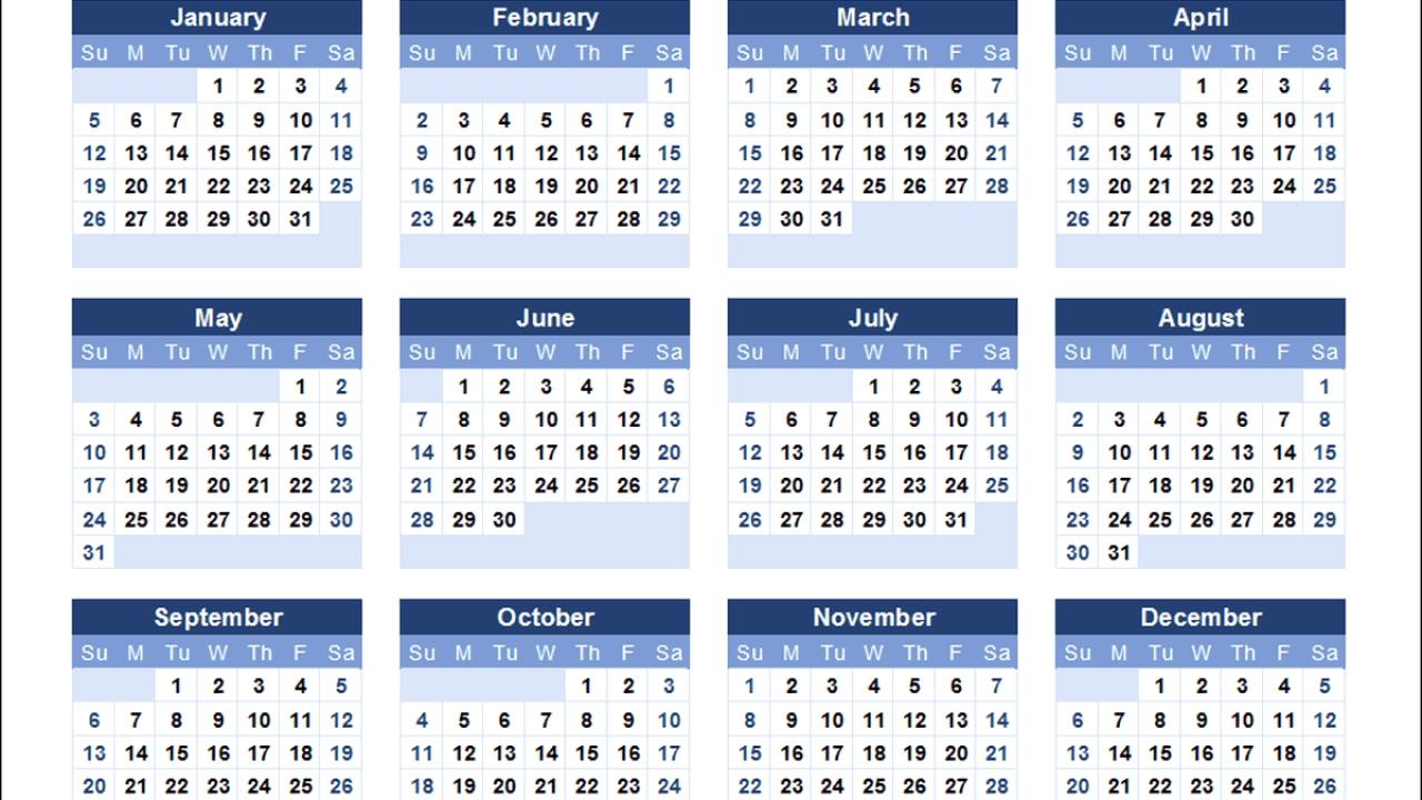 Zile Libere În 2020: Calendar. Nu Se Va Lucra În 15 Zile Din