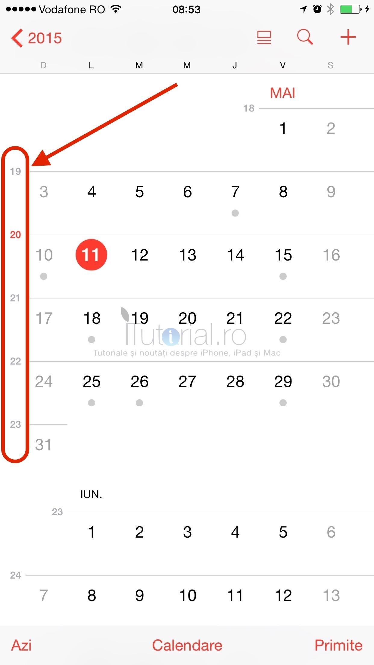 Cum Să Activezi Numerotarea Săptămânilor În Aplicația