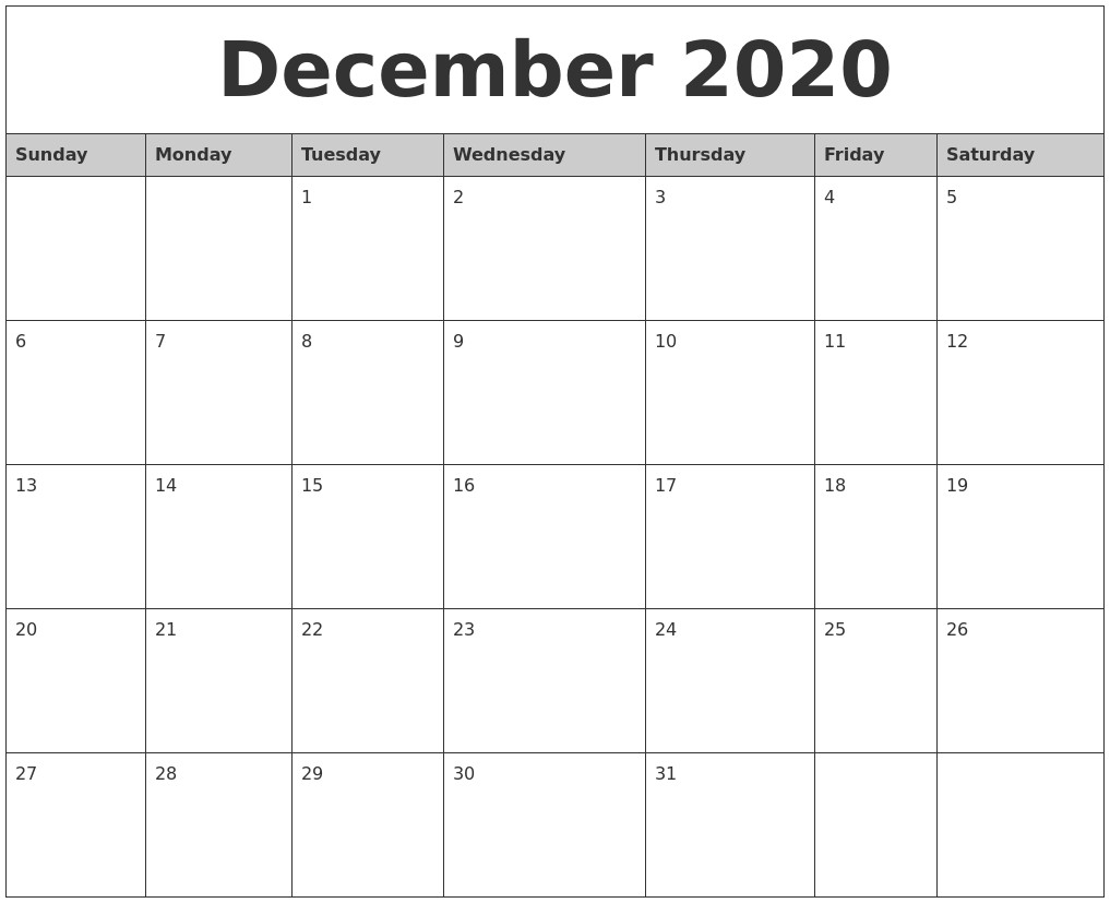 Fresh Free Printable Monthly Calendar 2020 With Holidays