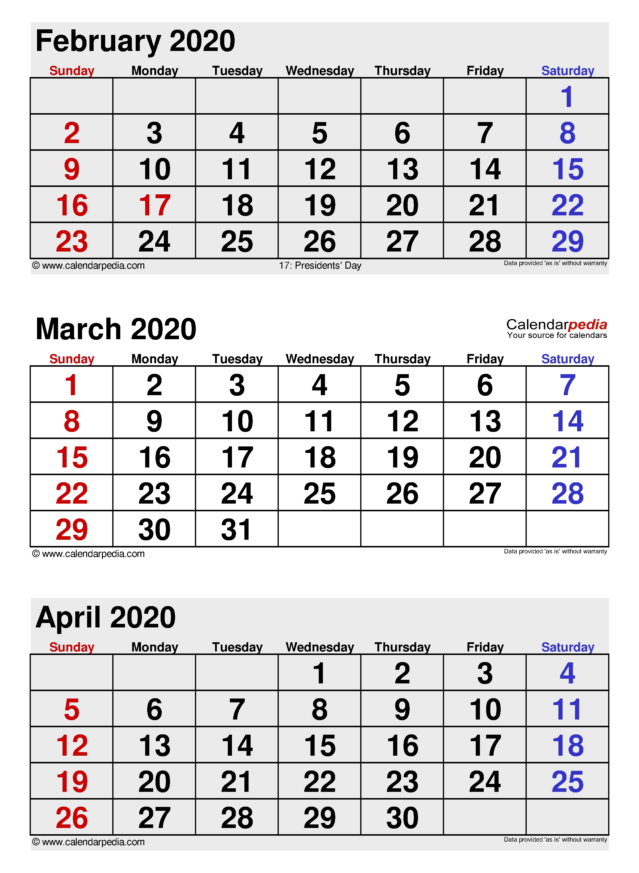 March 2020 - Calendar Templates For Word, Excel And Pdf