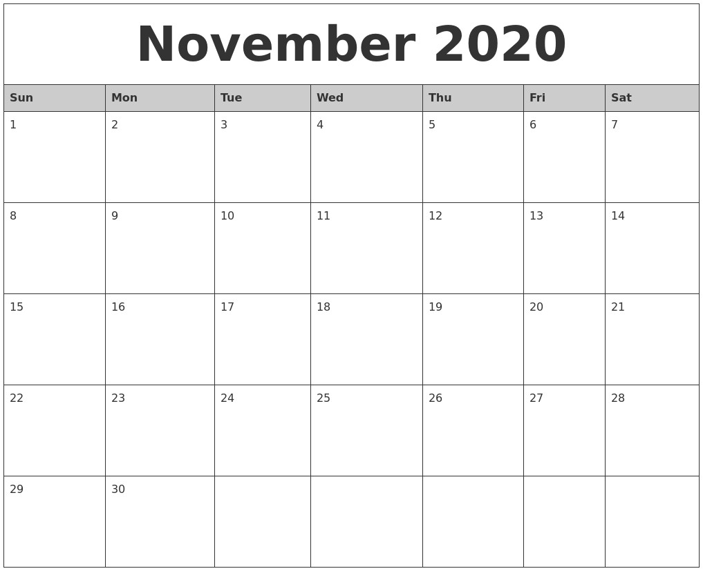 Monthly Calendar 2020 Printable   Free Printable Calendar