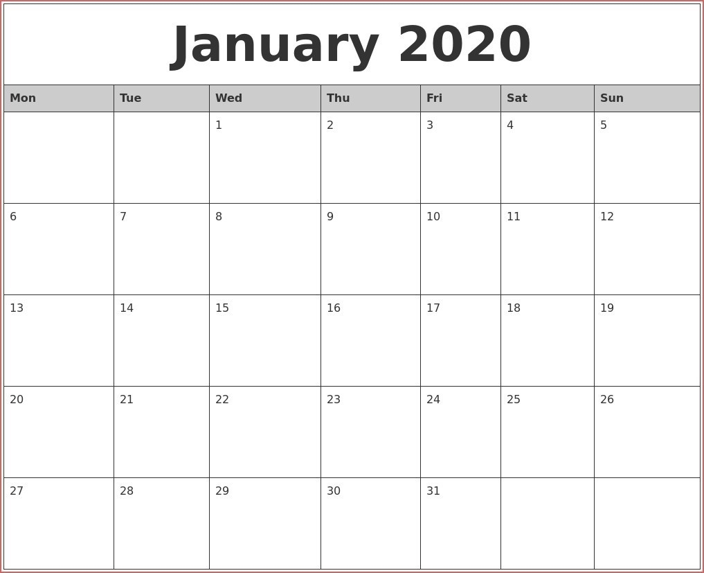 2020 Monthly Calendars With Time Slots | Calendar Template Printable