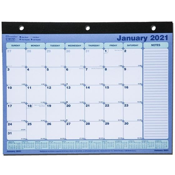 "2021 Brownline C181721 Desk Pad Calendar 11 X 8-1/2"" | Nordisco"