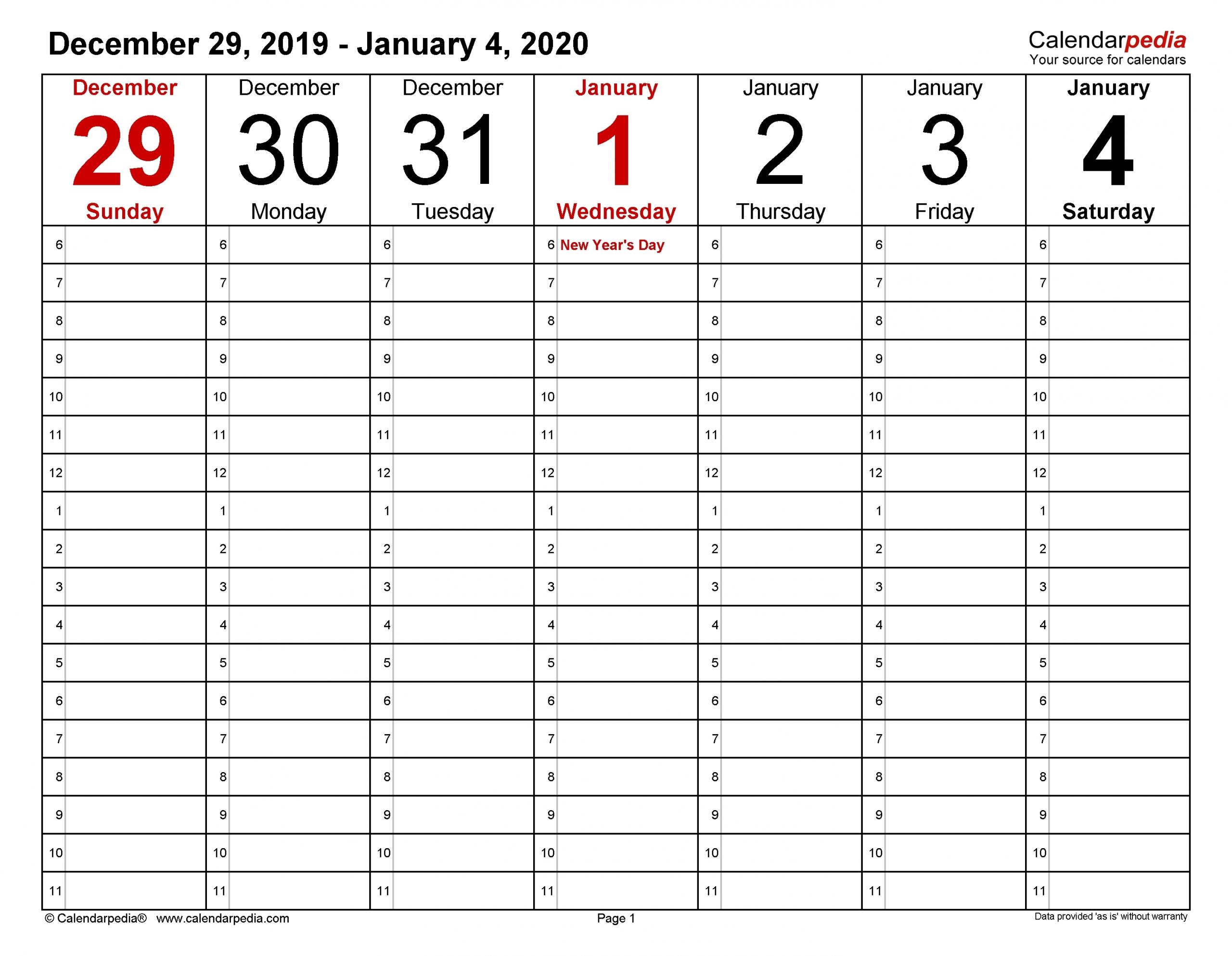 A Self Printed 8 1/2 X 11 Calender | Calendar Template 2020