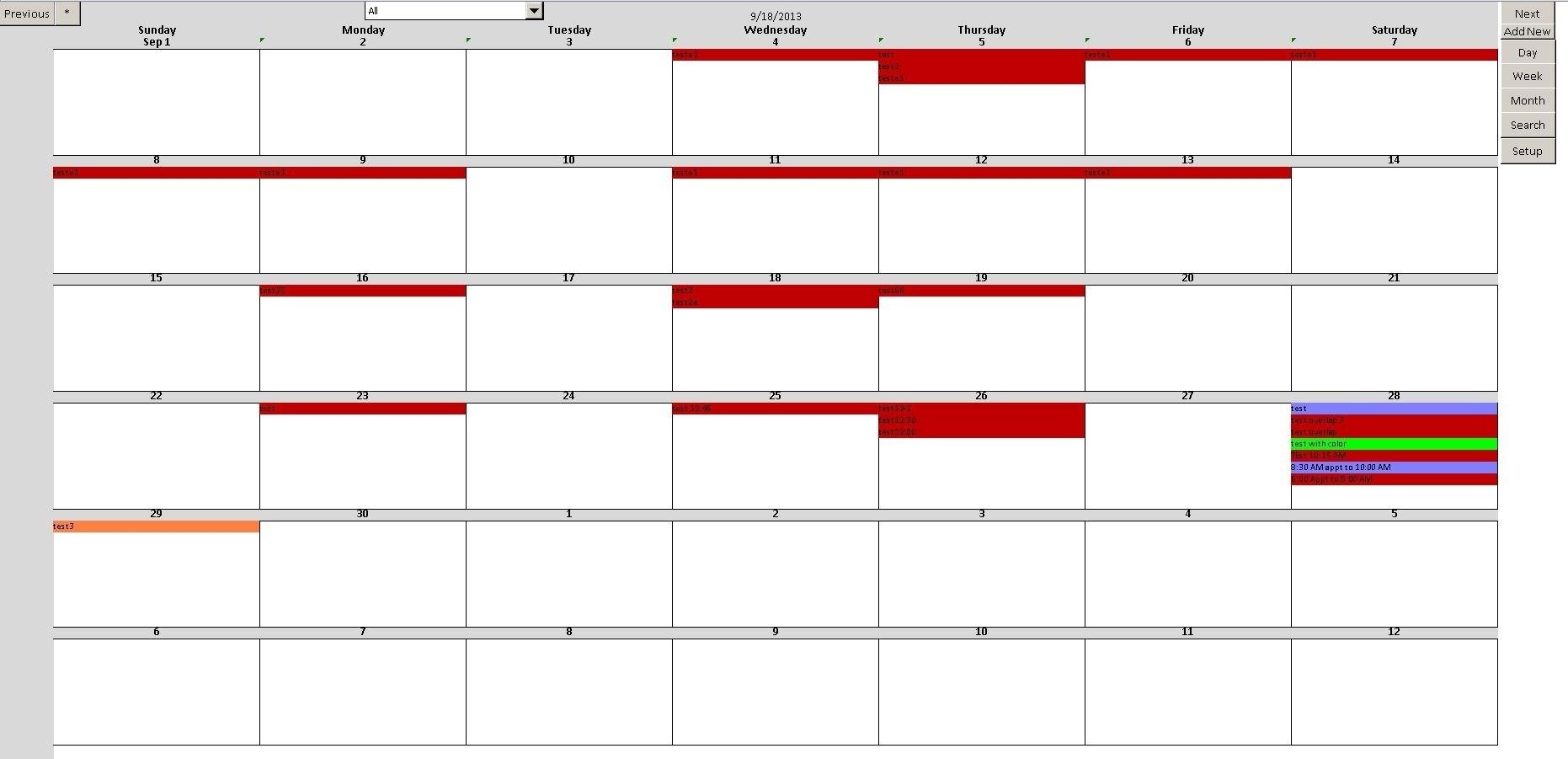 Access Calendar Scheduling Database | Calendar Template 2020