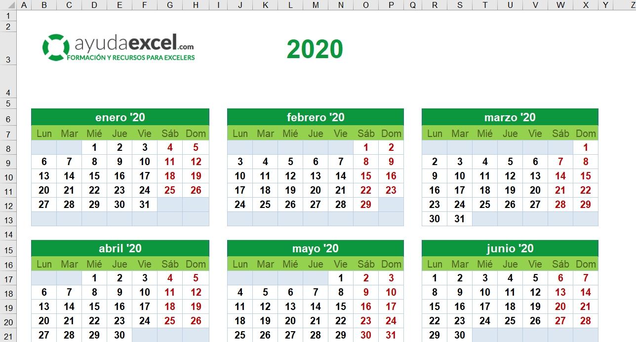 Calendario Juliano 2020 | Calendar Template Printable Monthly Yearly
