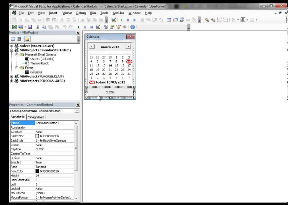 Excel 2013 Video 10 Insert A Calendar Datepicker In A Floating Vba Userform - Youtube