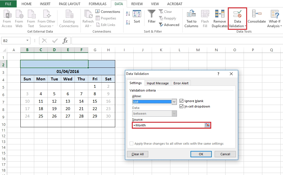Excel Calendar - Part 2 - Change This Limited