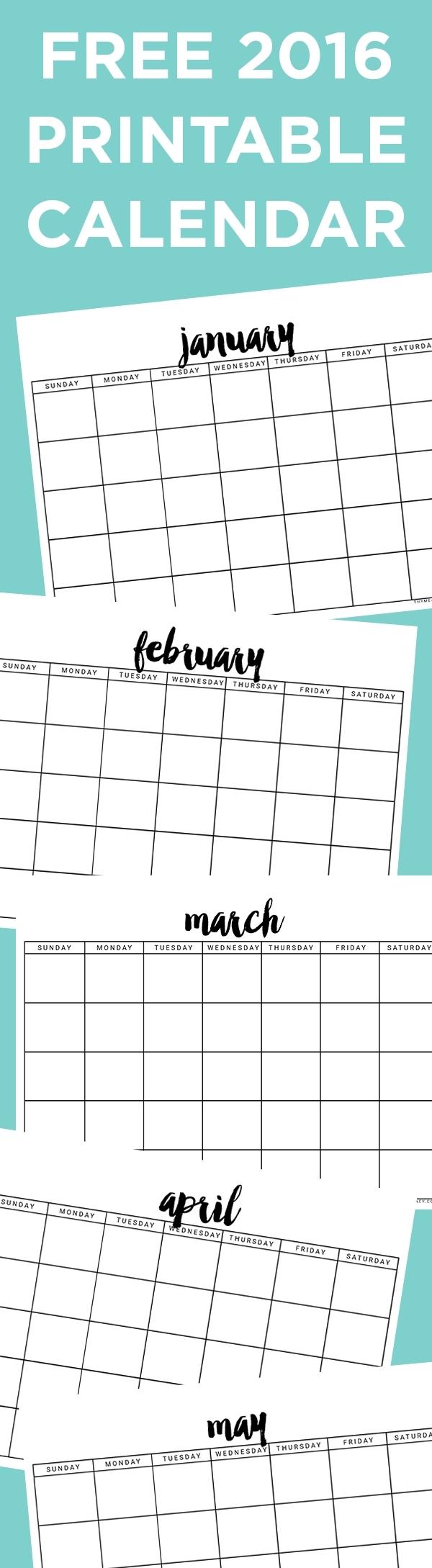Free Printable Calendar - Thyme Is Honey