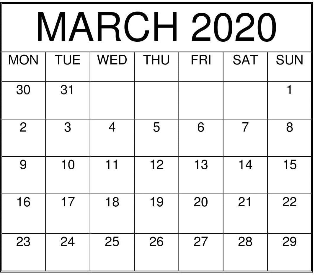 Freeprintable Calander 3 Months To A Page July 2020 – March 2020 | Example Calendar Printable