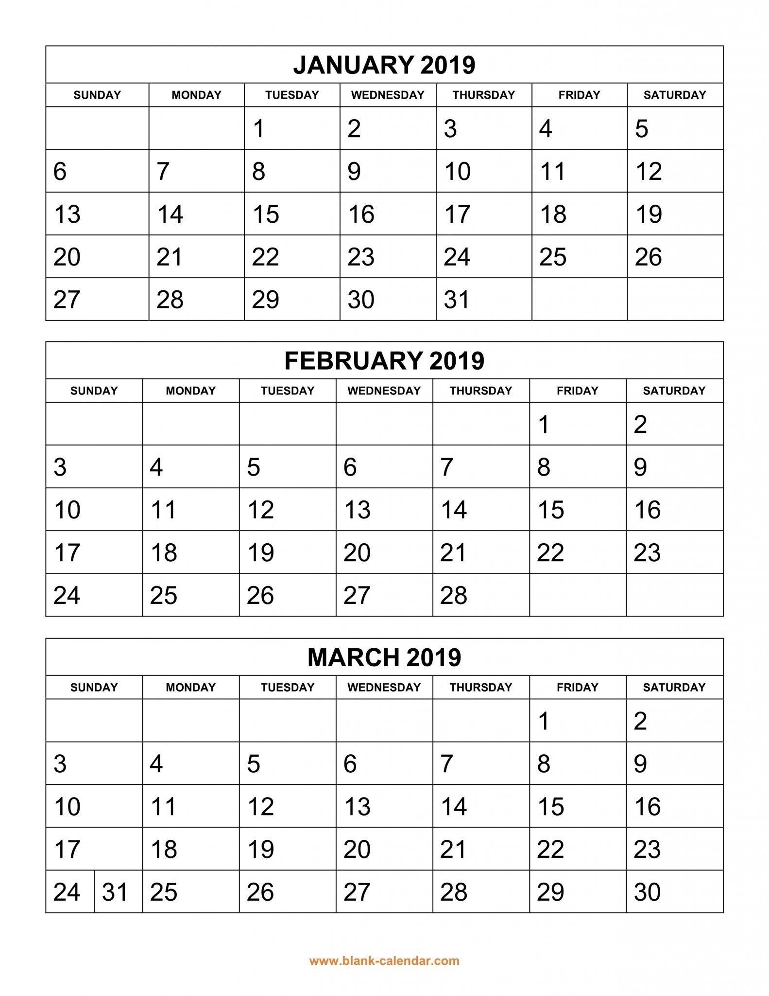 Get 3 Month Blank Calendar Template ⋆ The Best Printable Calendar Collection
