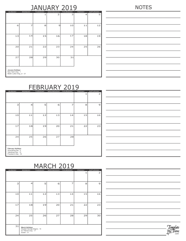 Get Free January And February 2020 Printable Calendar Templates | August Calendar, 3 Month