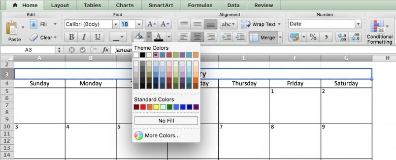 Inserting Calendar Drop Down In Excel 2016 :-Free Calendar Template