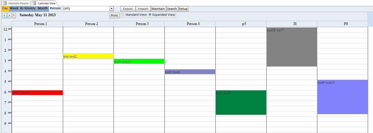 Microsoft Access Scheduling Template Best Of Enhanced Calendar Scheduling Database Template In