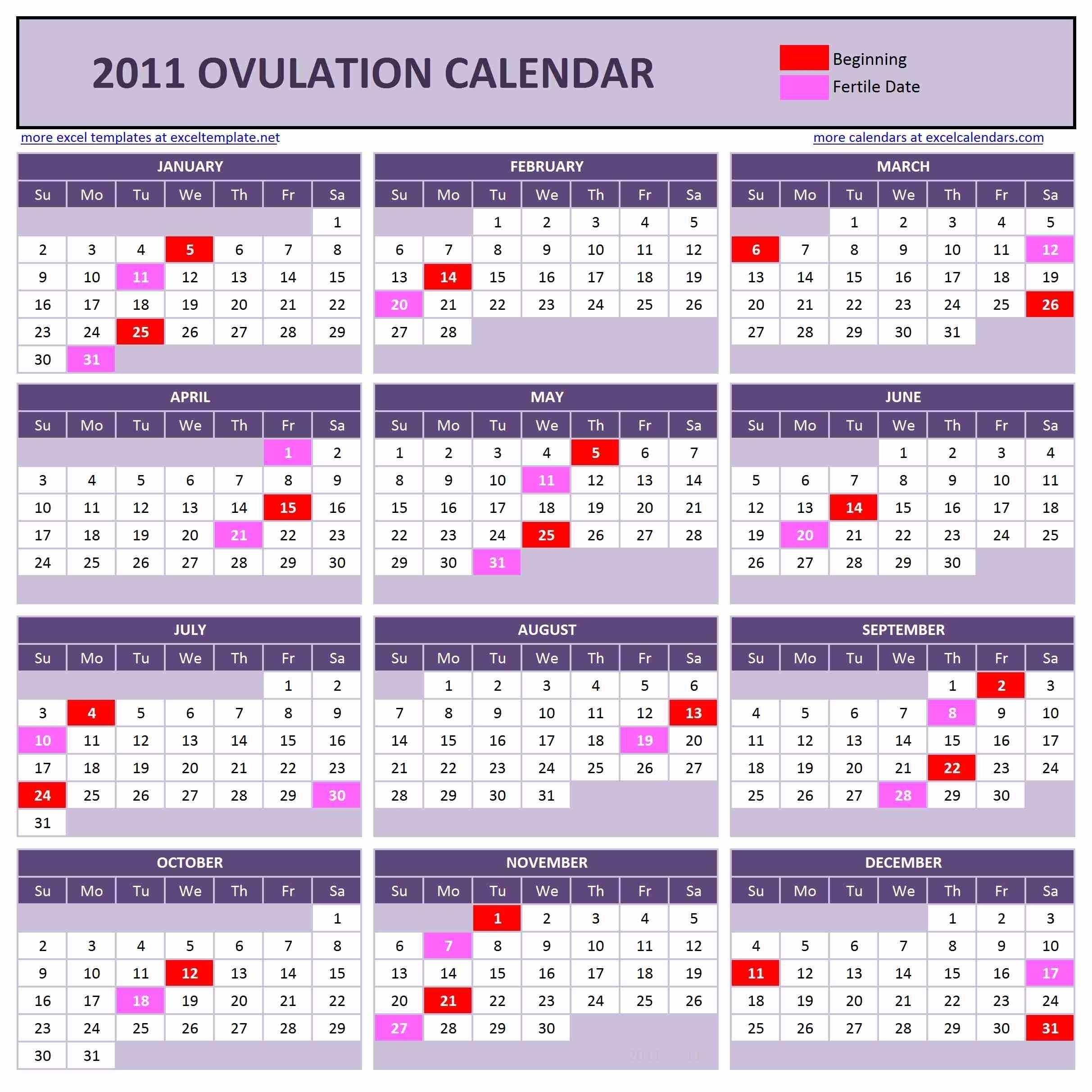 Ovulation Calendar 3 Week Cycle | Ten Free Printable Calendar 2020-2021
