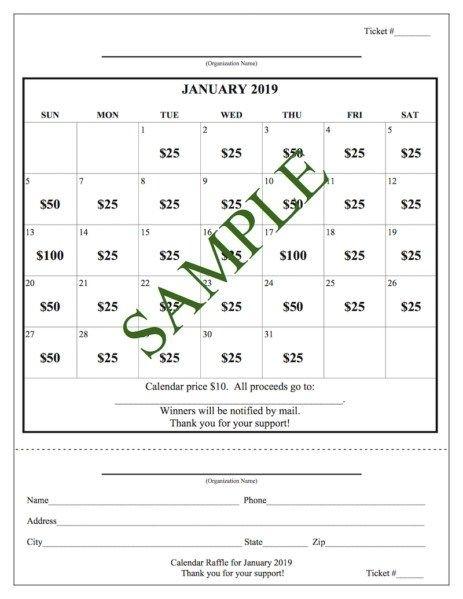School Fundraiser: Cash Calendar Raffle | School Fundraisers, School Calendar, Fundraising