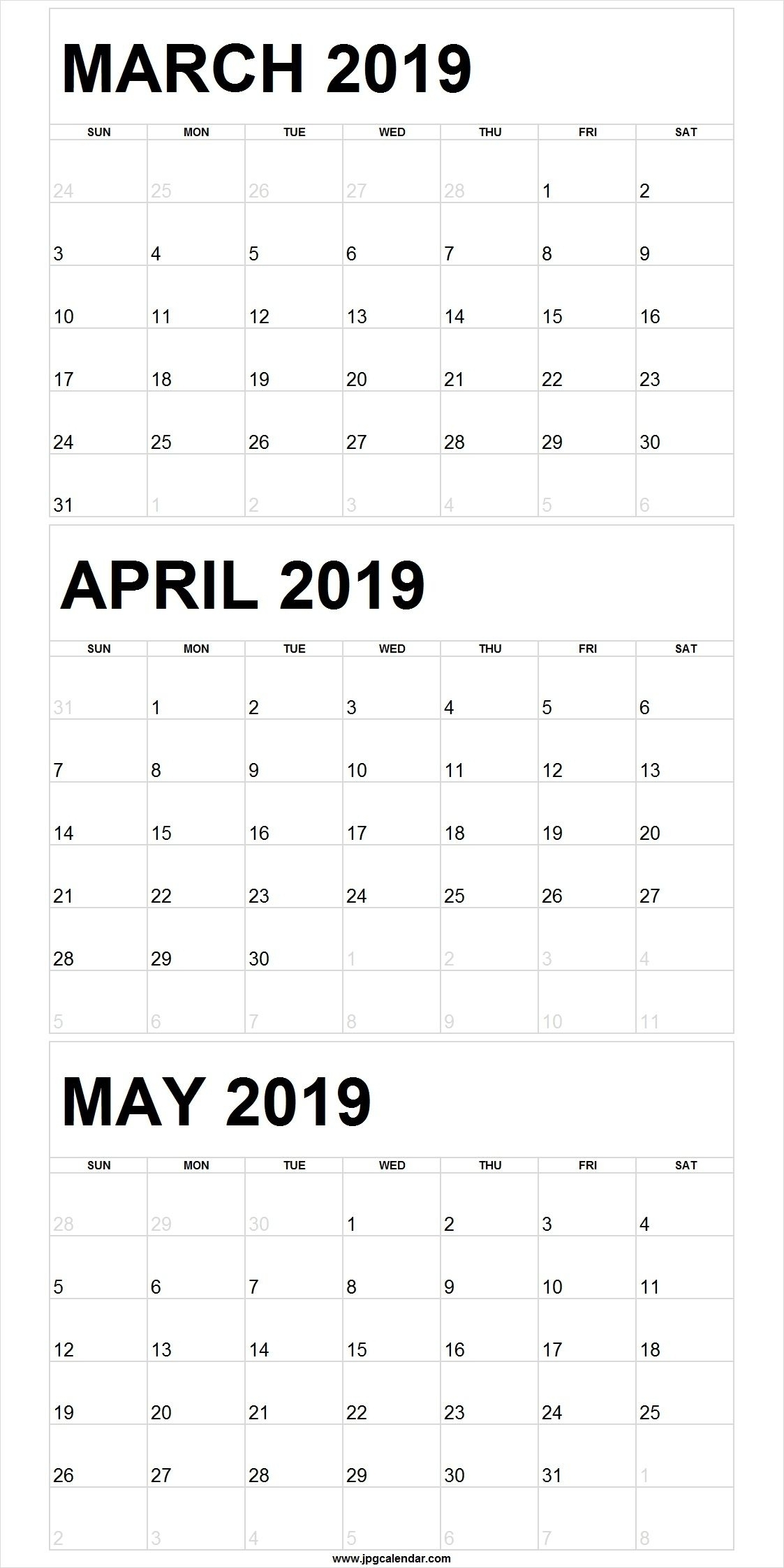 Word 3 Month Calendar Template | Calendar Template 2020