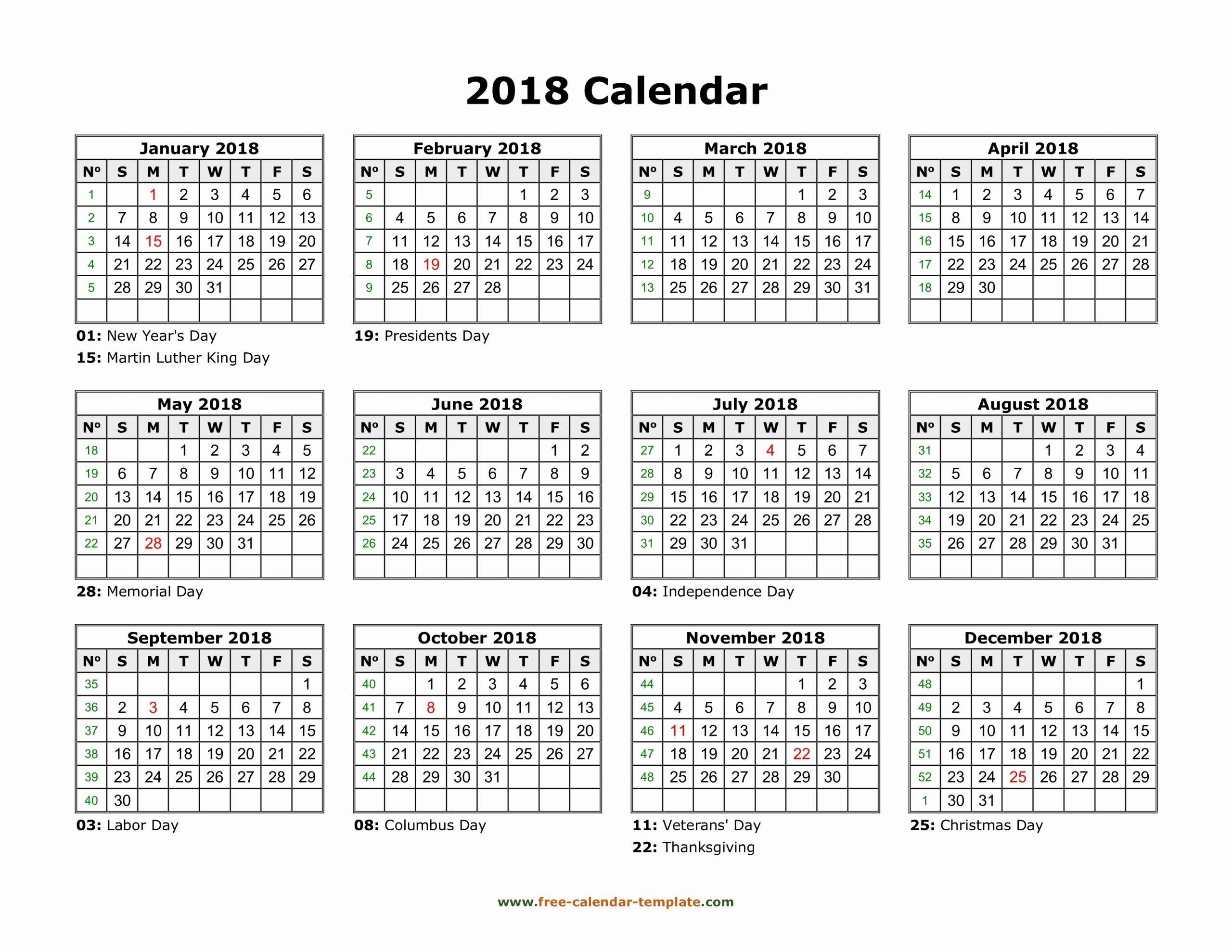 11×17 Printable Calendar In 2020 | Calendar Template, 2018