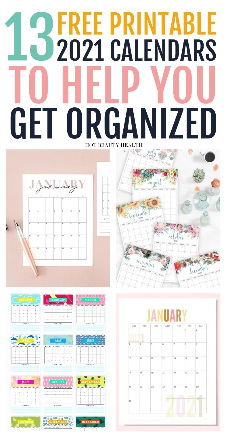 13 Cute Free Printable Calendars For 2021 You'Ll Love - Hot