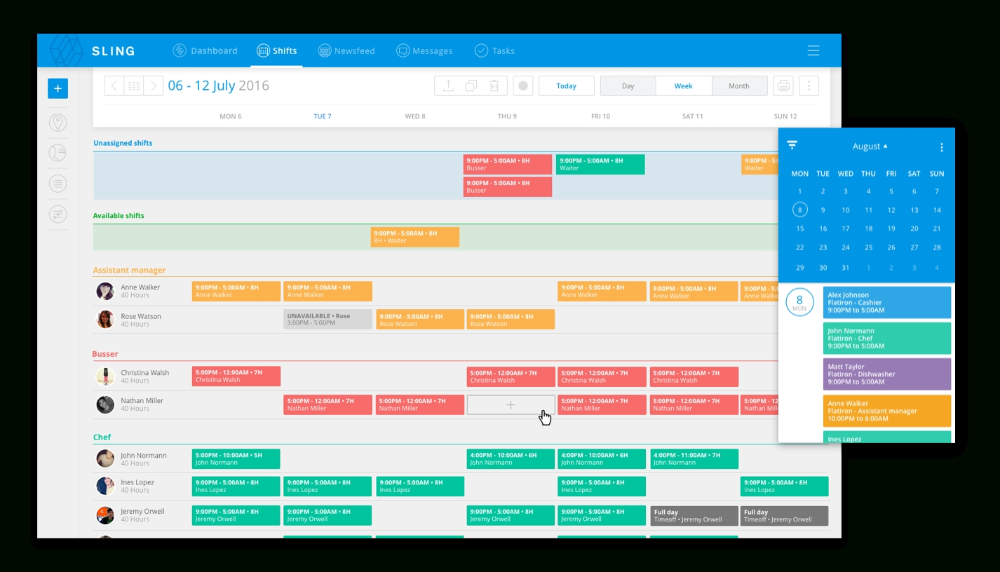 14 Best Free Employee Scheduling Software Tools | 2021 | Sling