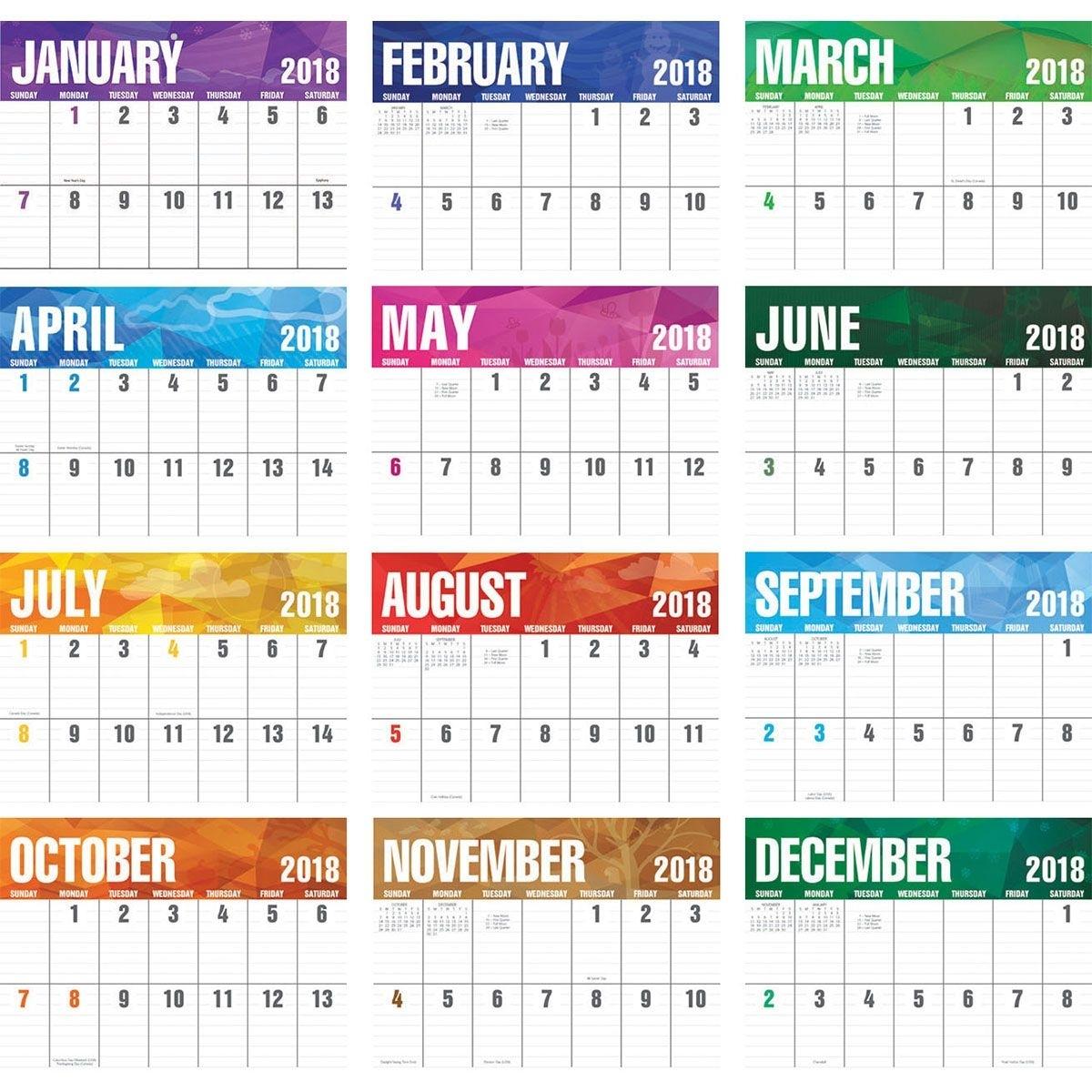 2018 Big Block Calendar, 2018 Imprinted Calendars, 2018