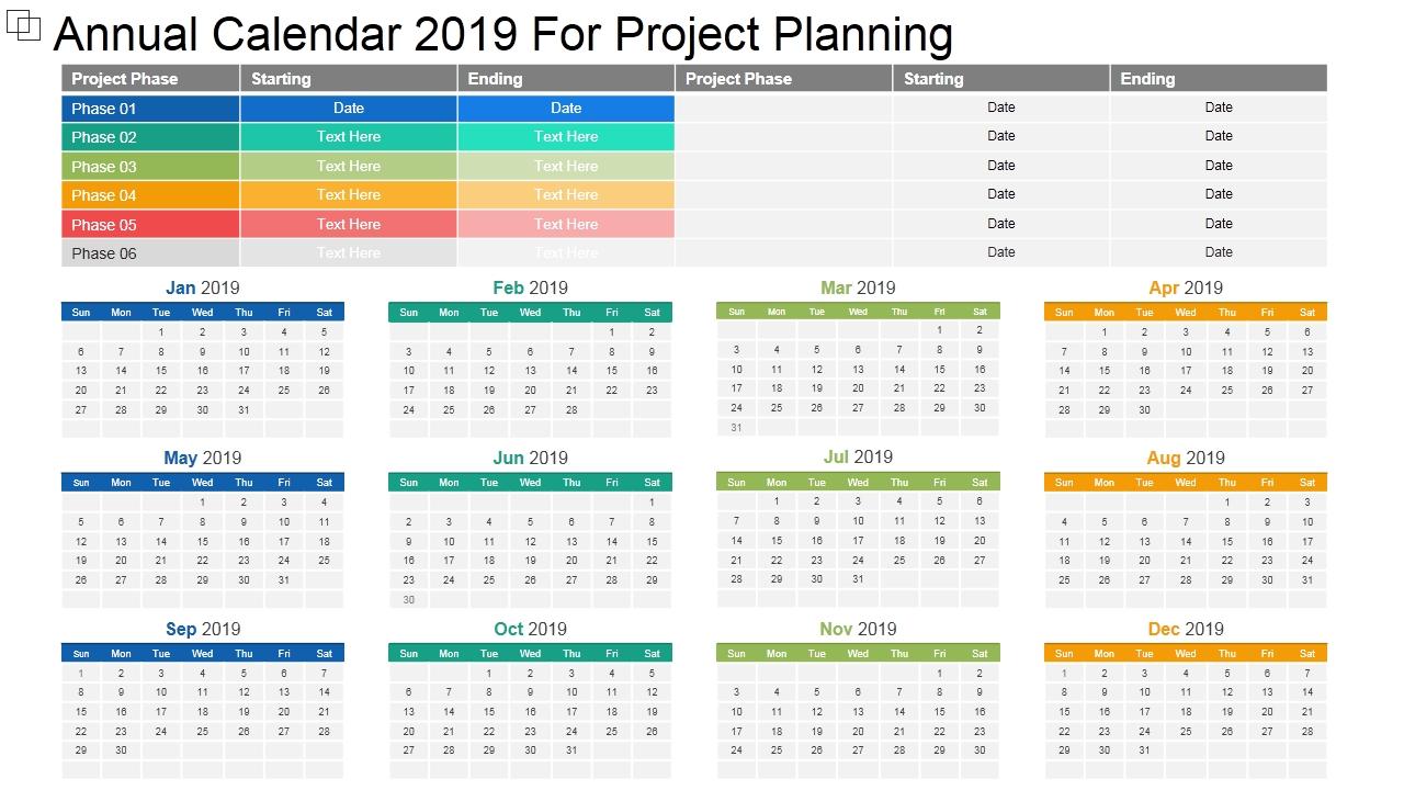 2019 Calendar Template: 13 Powerpoint Calendar Templates
