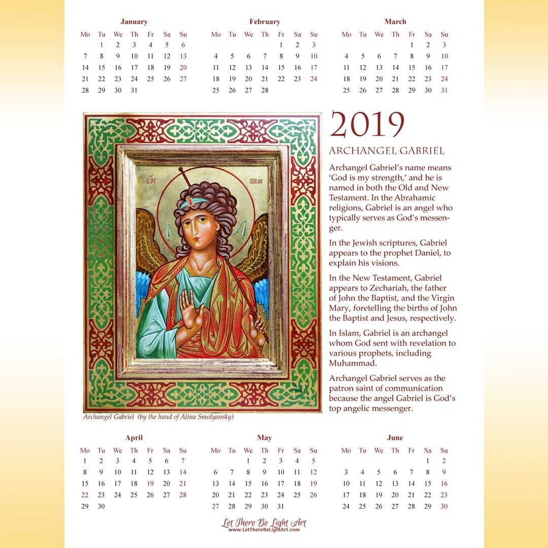 2019 Printable Calendar 2 Page, Images Of St George And