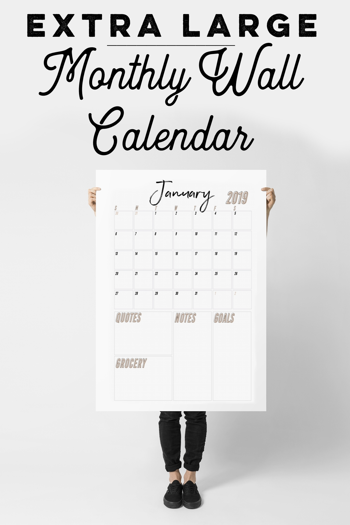 2020-2021 Extra Large Wall Calendar Printable | Etsy | Large
