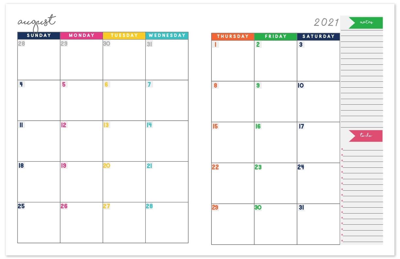 2020-2021 Monthly Calendar Planner | Free Printable Calendar