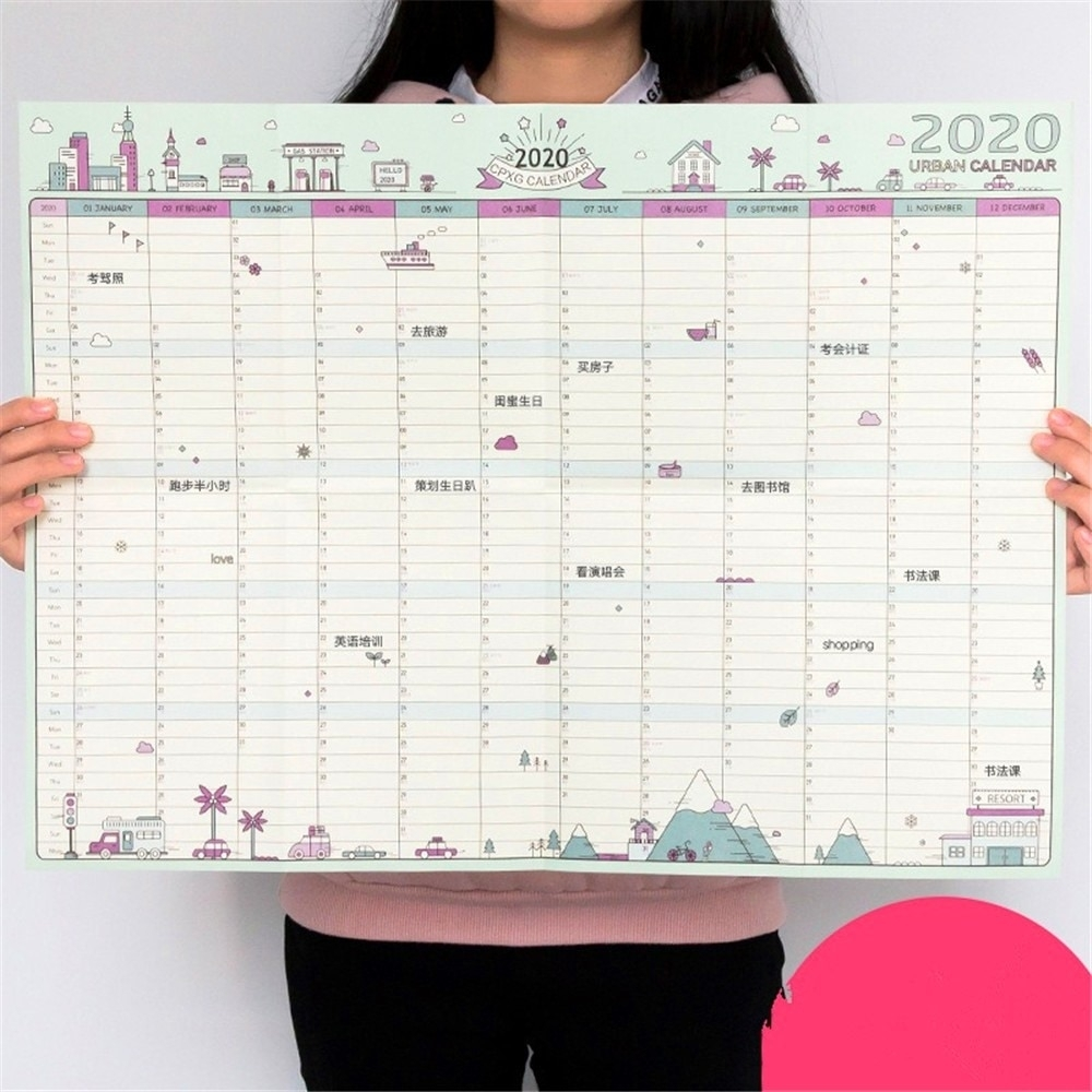 2020 Wall Calendar 365 Days Countdown Diary Calendar Learning Schedule  Periodic Planner Project Countdown Record