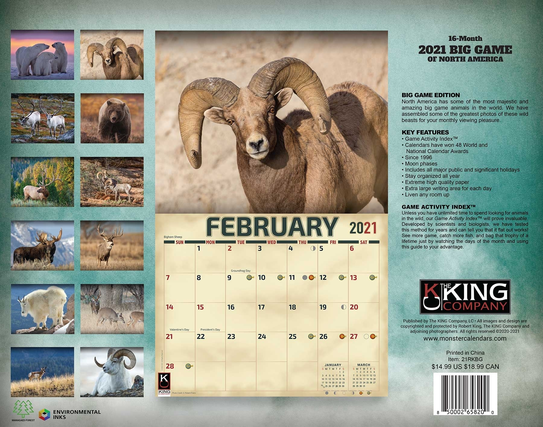 2021 Big Game Calendar