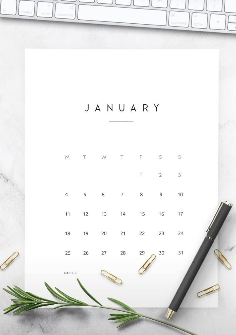 2021 Calendar Contemporary Style - World Of Printables In