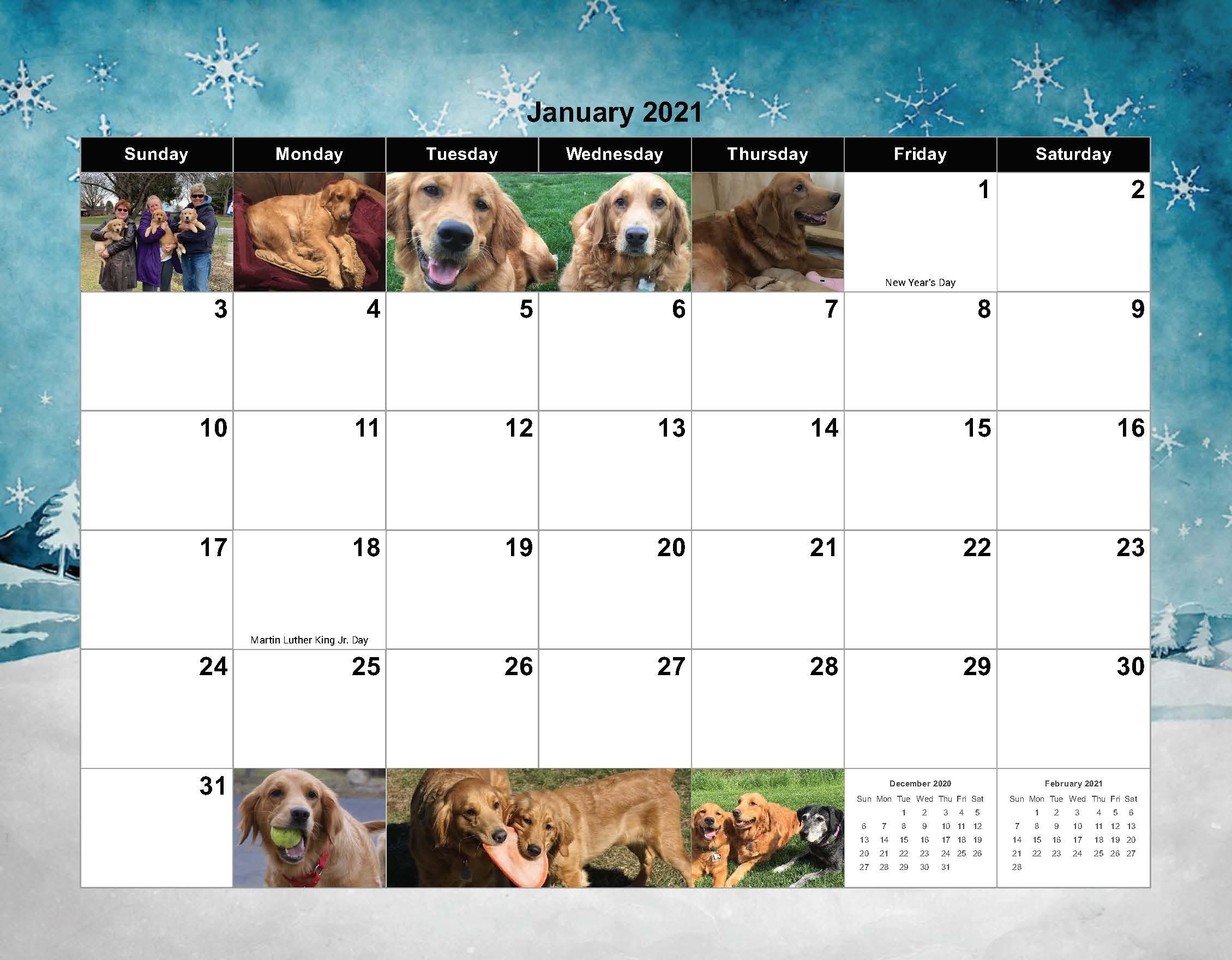 2021 Calendar | Goldheart Golden Retriever Rescue