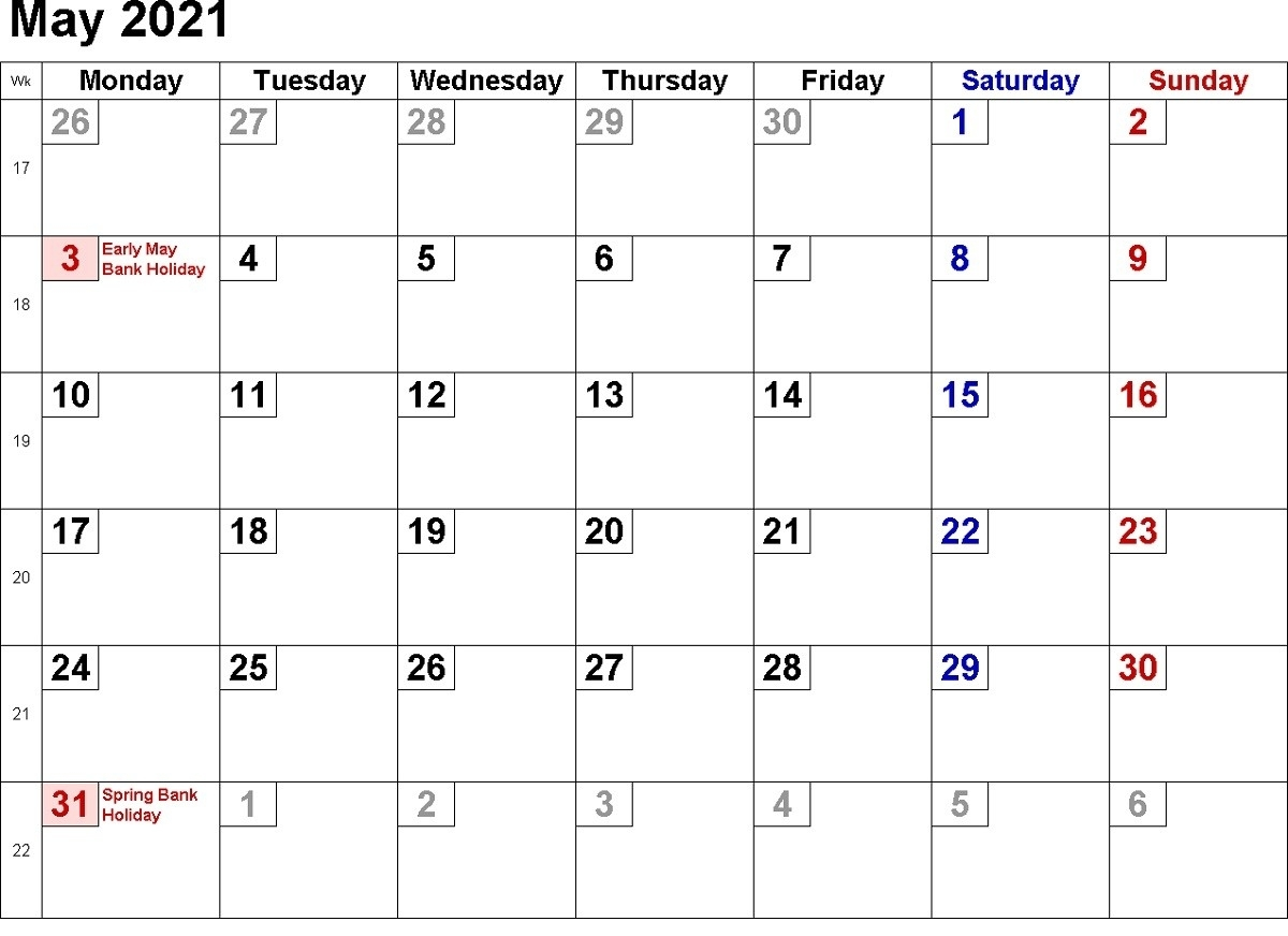 2021 Calendar With Week Numbers Free 365 Days | Free