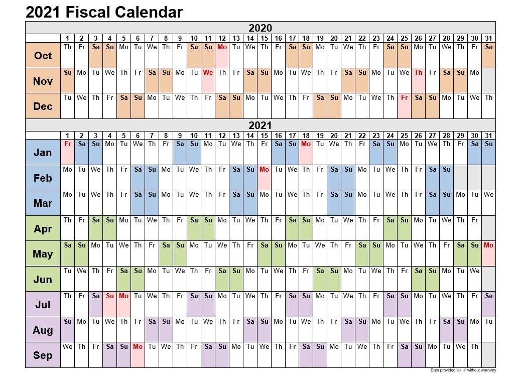 2021 Fiscal Week Calendar Excel | 2021Printablecalendar