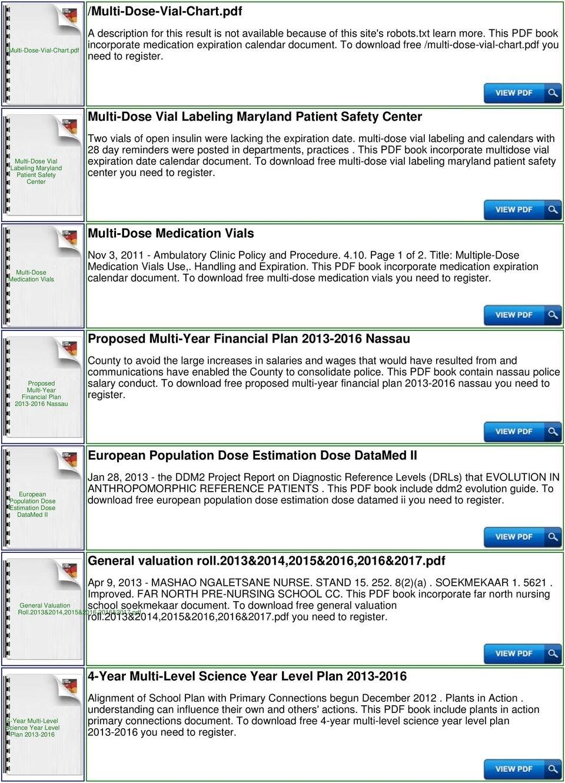 28 Day Multi Dose Vial Expiration Calculator Pdf Free Download