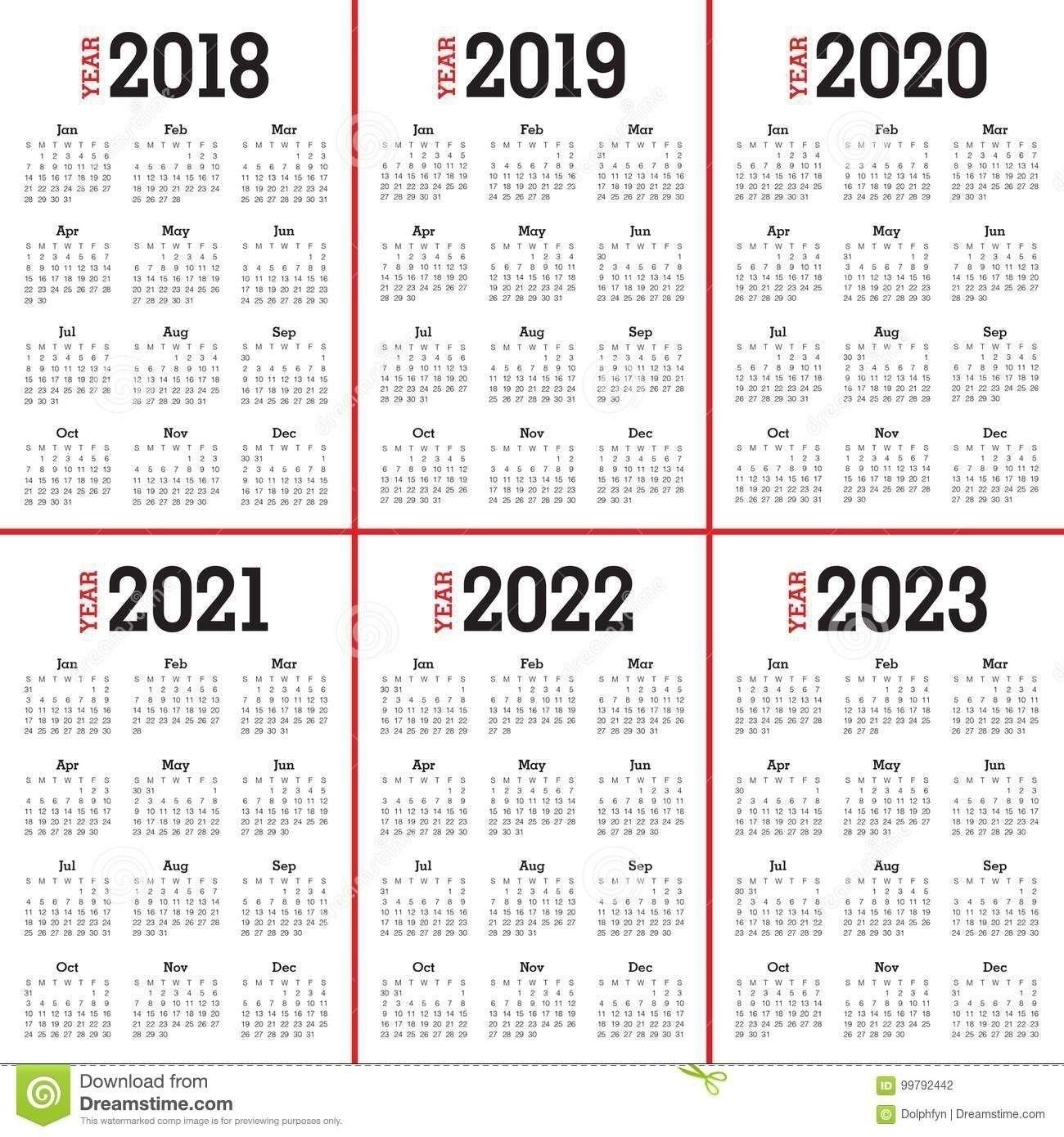 3 Year Calendar 2021 To 2023 | Stiker