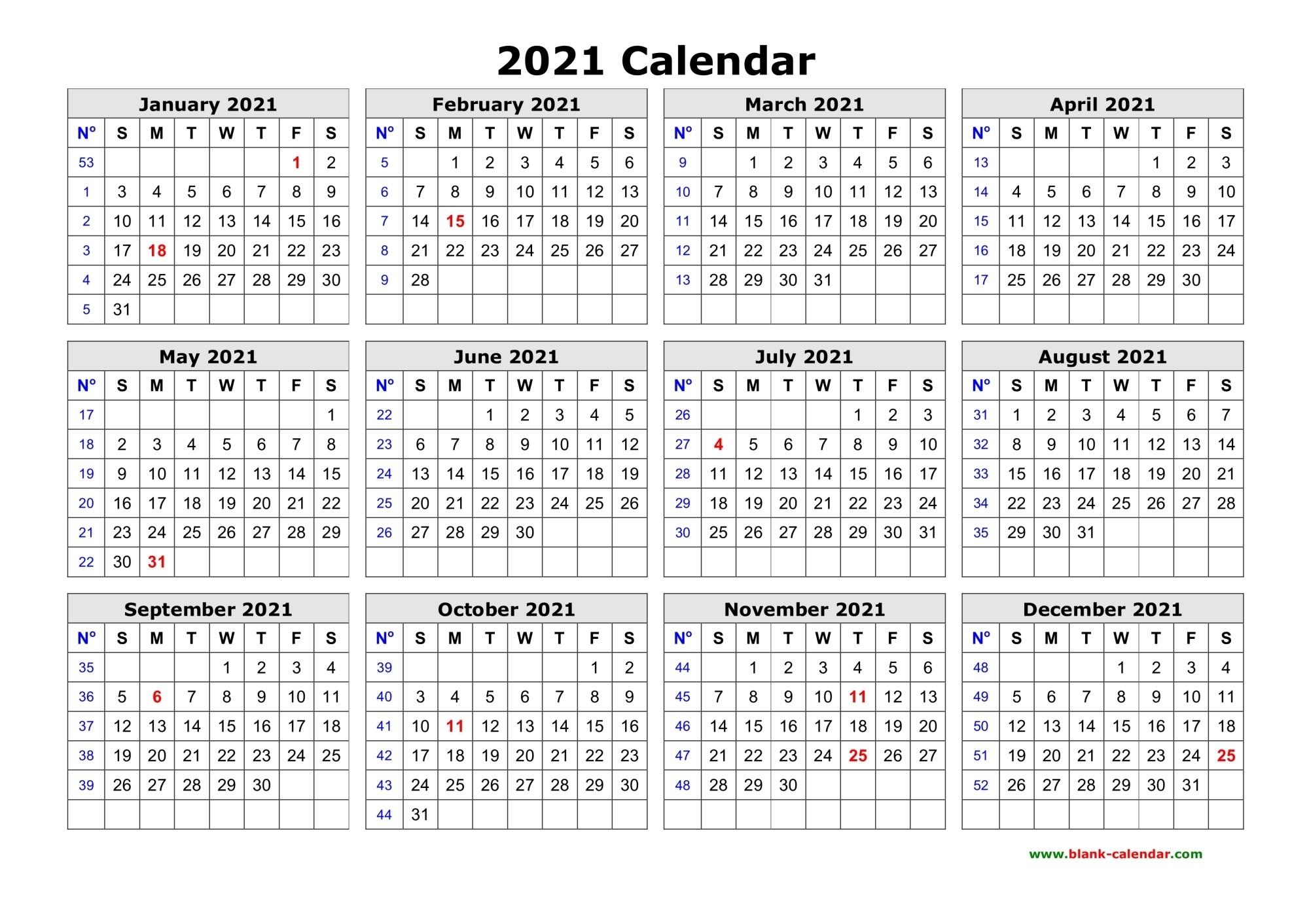 50 Best Printable Calendars 2021 (Both Free And Premium)